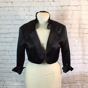 WHBM bolero jacket w ruffle collar.  Like new!